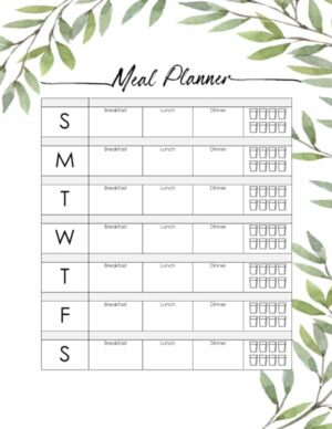 Printable to plan meals