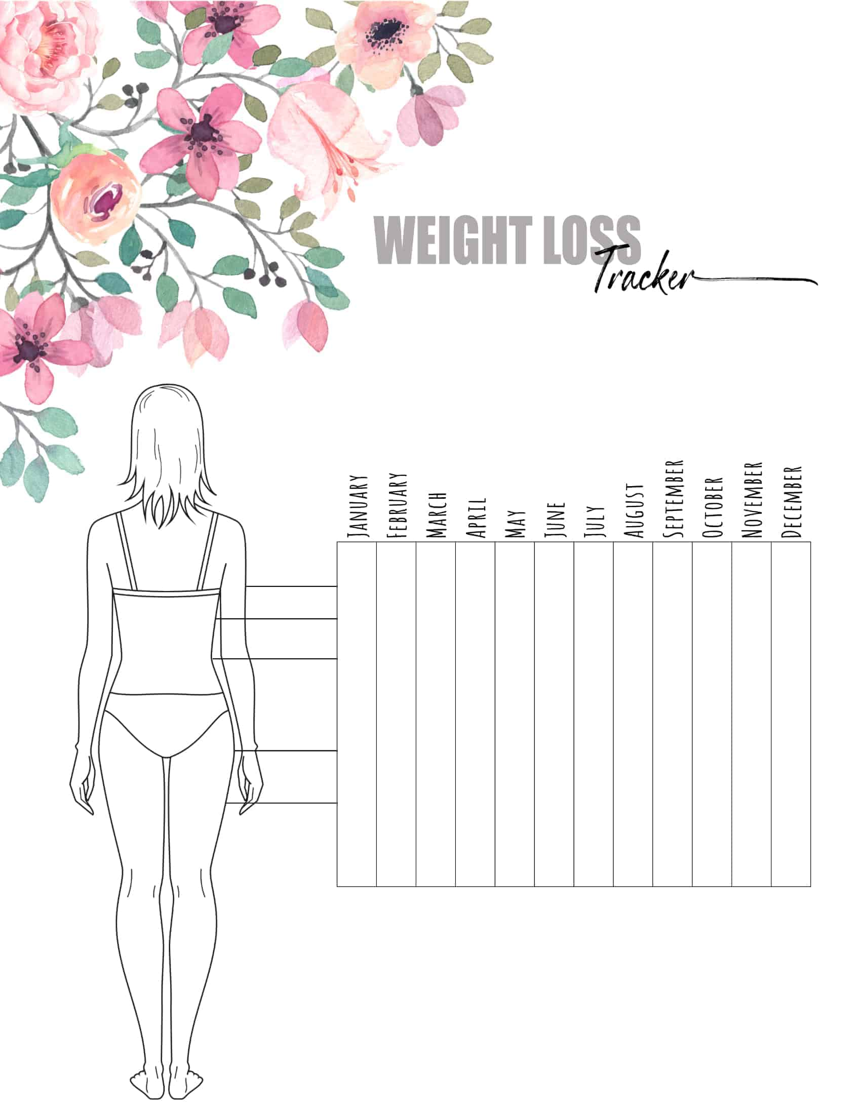 Free Weight Loss Tracker Printable Customize Before You Print