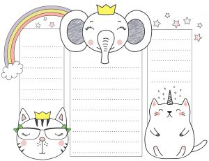 Printable planner with three columns