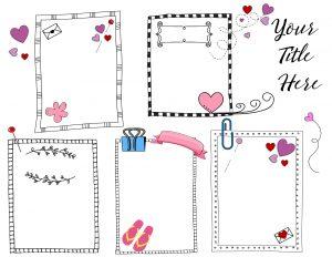Cute weekly planner printable
