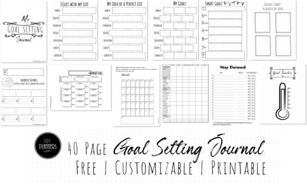 Free Printable Goals Journal