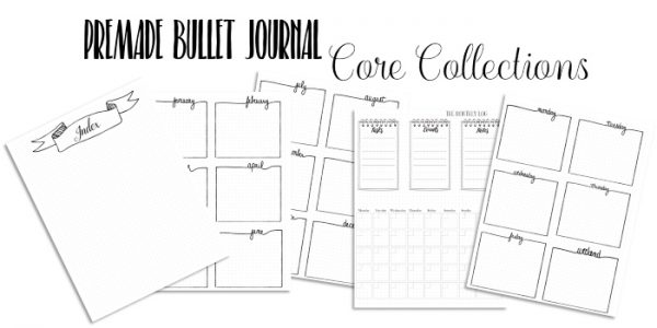 Premade bullet journal