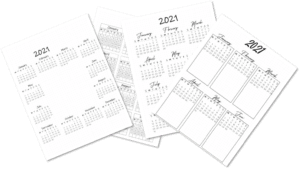Bullet Journal Year at a Glance 2021