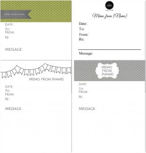 The different memo templates that you can make on this site