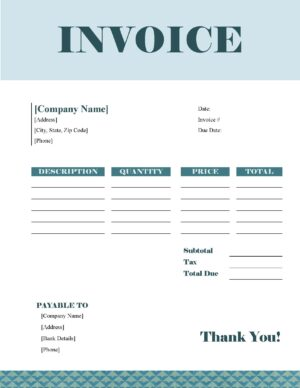 White and teal template