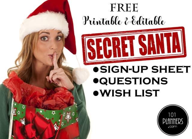 Secret Santa template