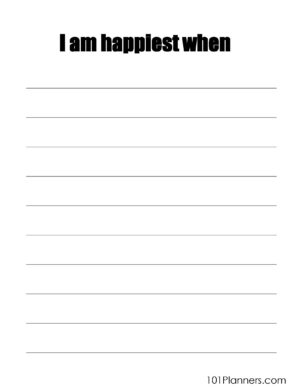 I am happiest when