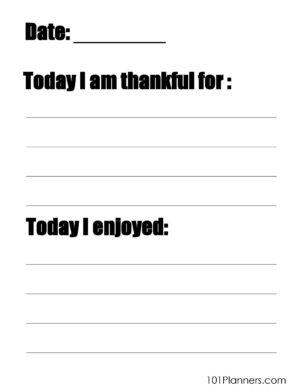 Daily Gratitude journal for kids
