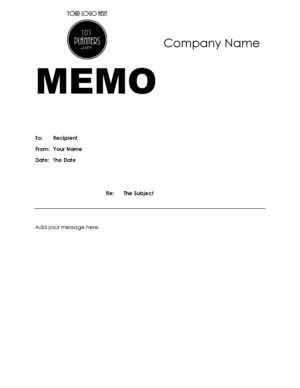 Memo template with logo