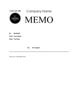 Letter template for company