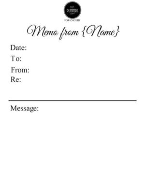 memo examples