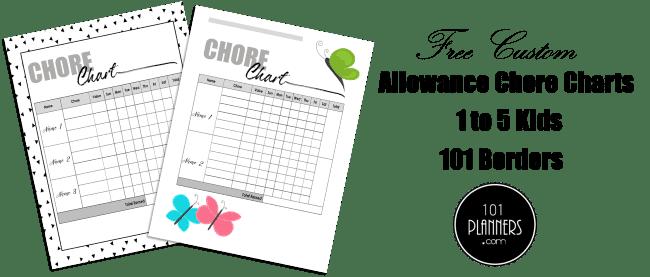 Money Chore Chart for kids