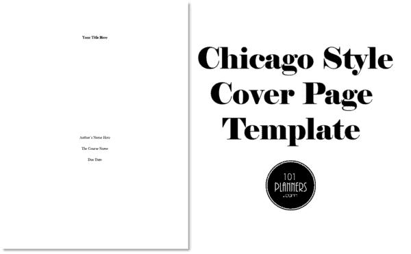 Chicago Style Cover Page