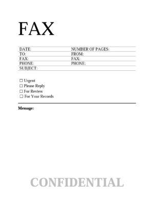 Confidential template