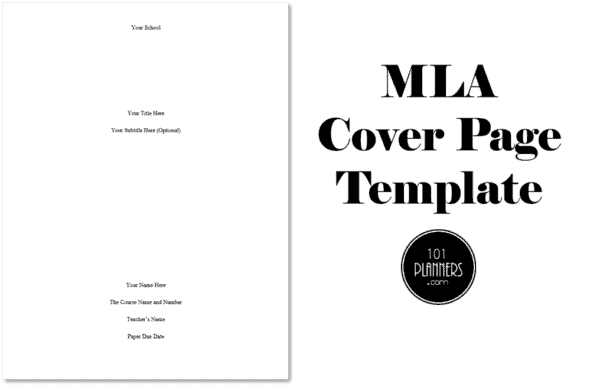 MLA cover page