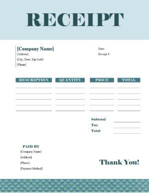 Printable Receipt
