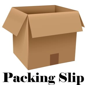 Select packing slip option