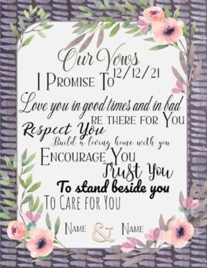 wedding vows poster