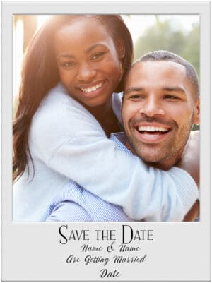 Polaroid save the date announcement
