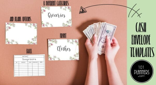 cash envelope templates