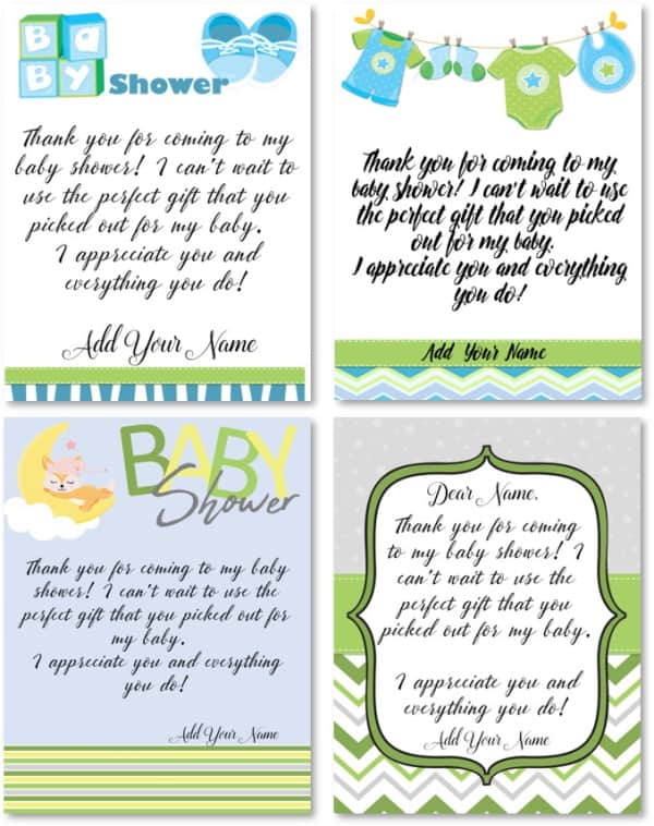 Baby Shower Thank You Messages