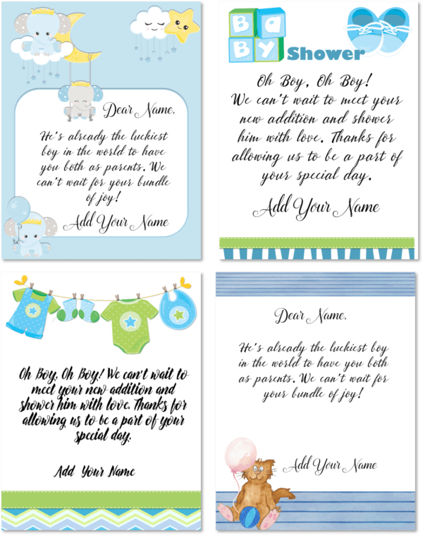Baby shower cards