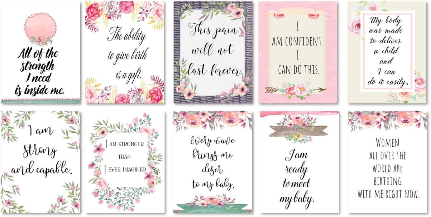 Free Printable Positive Affirmation Cards Instant Download
