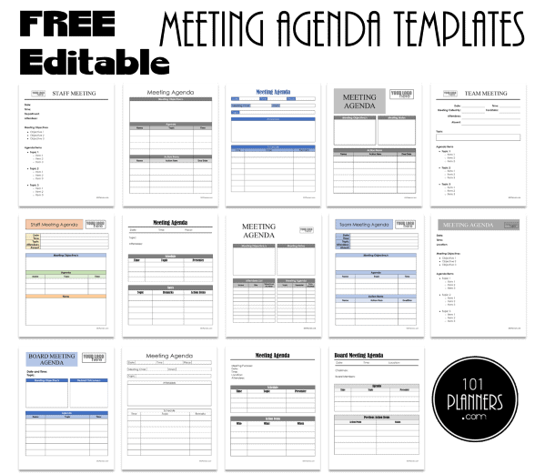 This example agenda is based on a template that we use at hugo for a lot of our team meetings. Free Meeting Agenda Templates Word Pdf Excel Google Docs