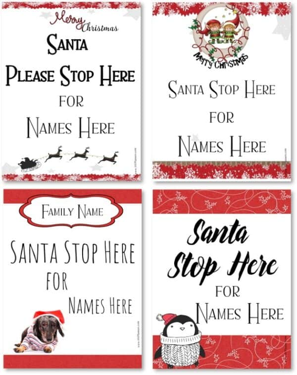 Father Christmas Stop Here Sign