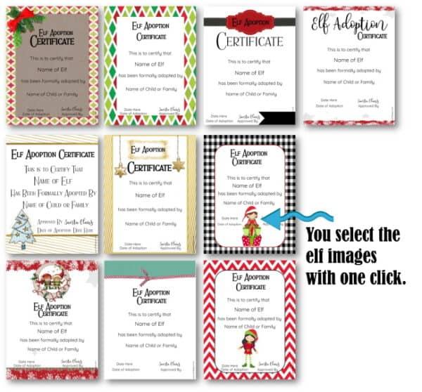 elf on the shelf adoption certificates