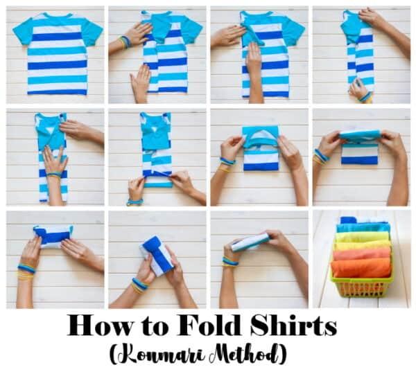 Konmari method to fold shirts