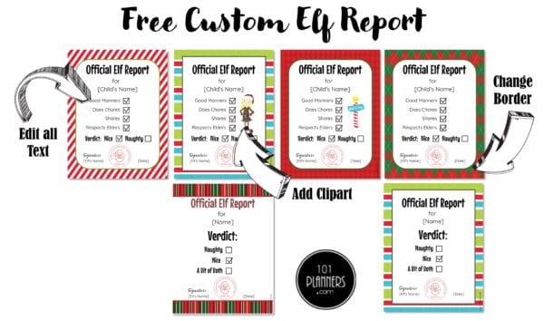 Elf report card
