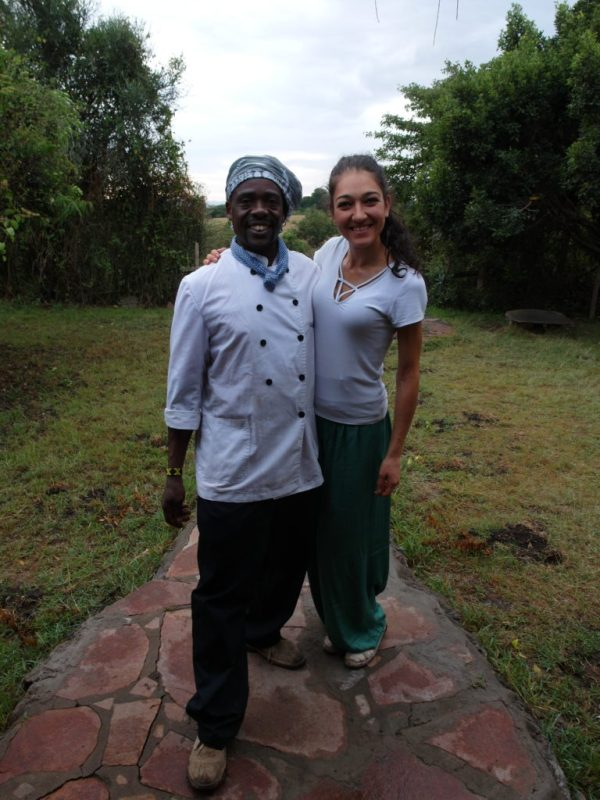 Меги и готвачът от Crocodile camp, Кения