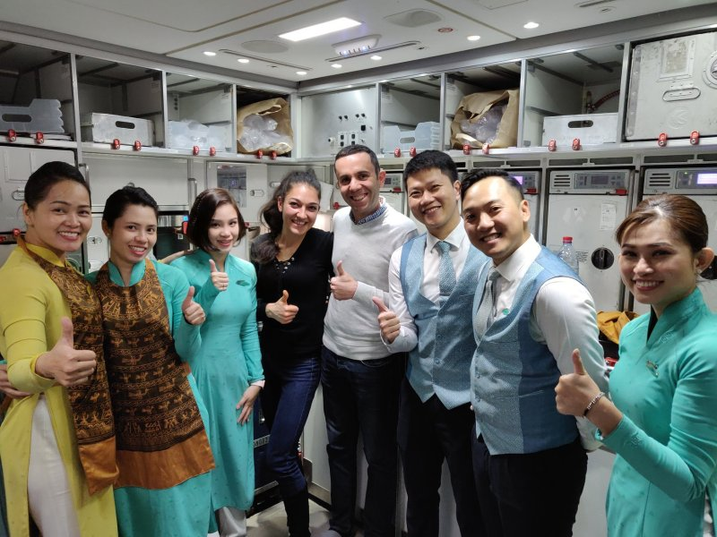 Екипажът на Vietnam Airlines