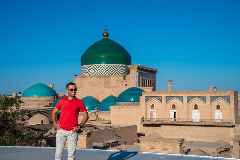 Гладката от покрива на някаква къща в Хива, Узбекистан