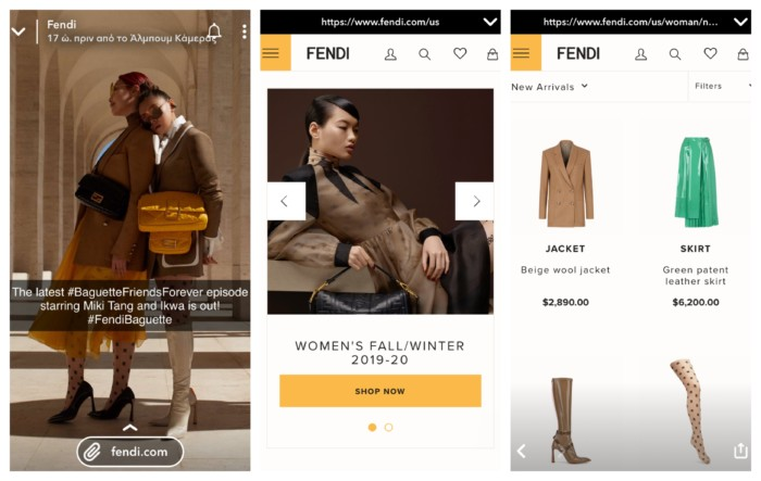 Fendi's Snapchat for business ad