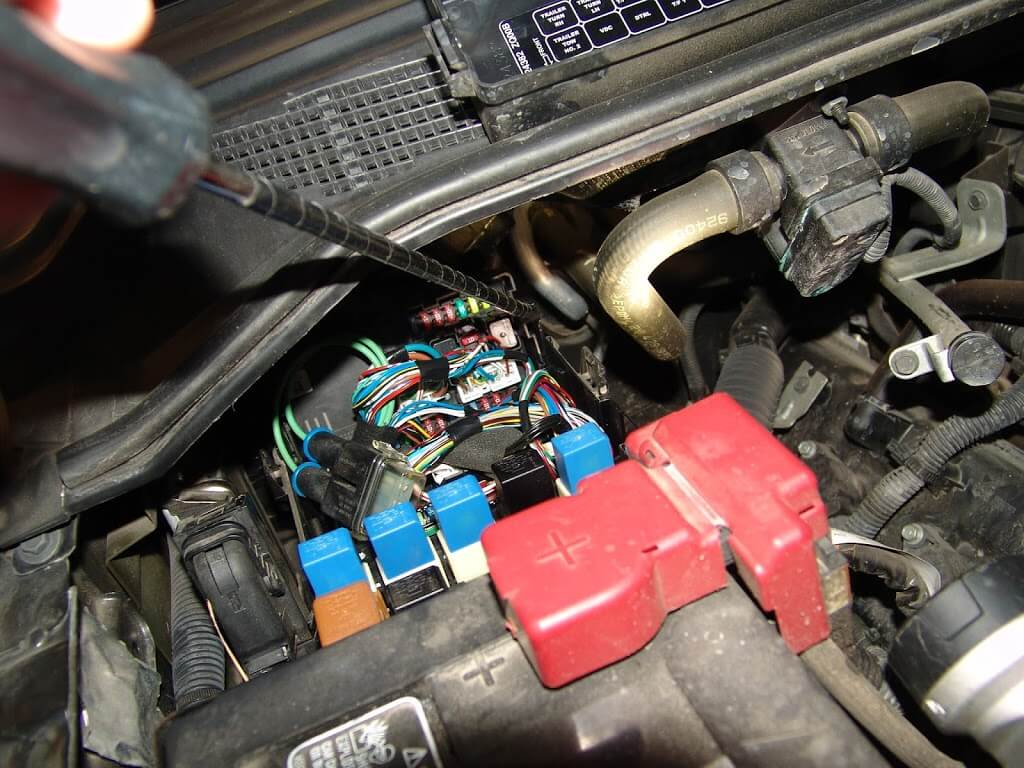 sparky s answers 2010 nissan titan trailer fuse locations the trailer tail park light fuse is one of the two red 10 amp fuses in the picture below sadly i did this repair several days ago and i do not remember if