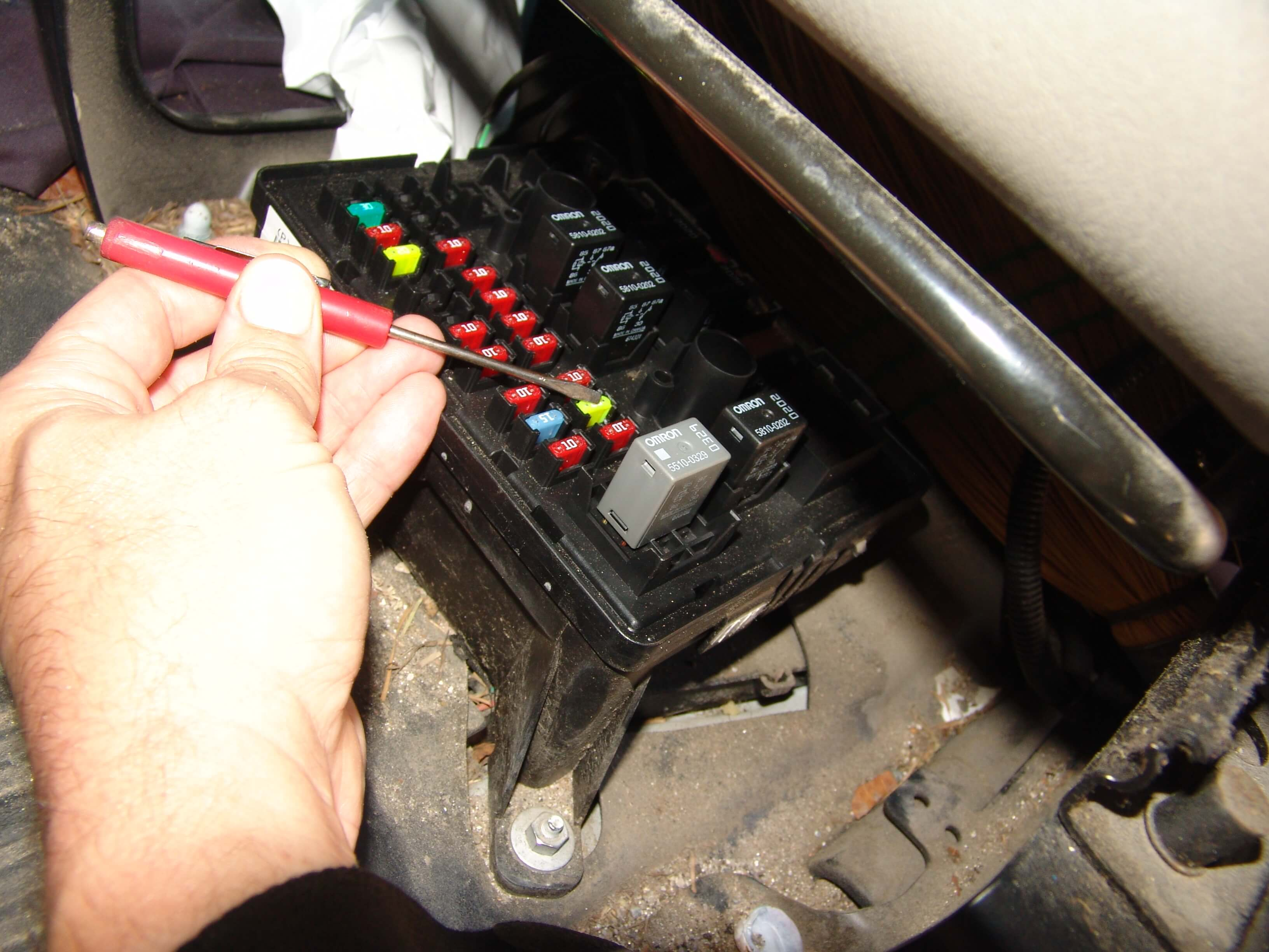 Fuse #10 in the under seat fuse box.