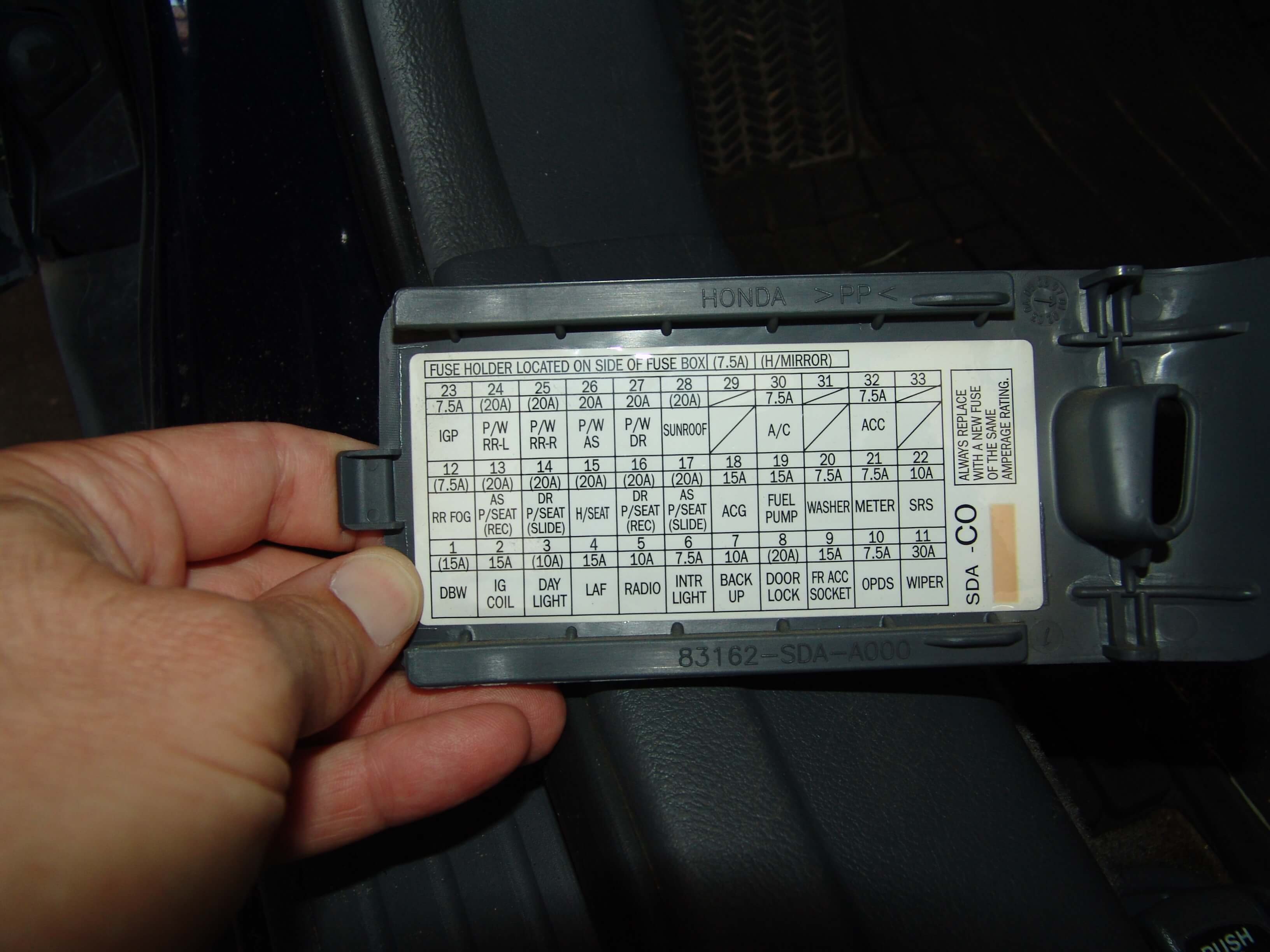 2006 Honda Fuse Box Another Blog About Wiring Diagram Civic Sparkys Answers Accord Passenger Power Cbr600rr Location