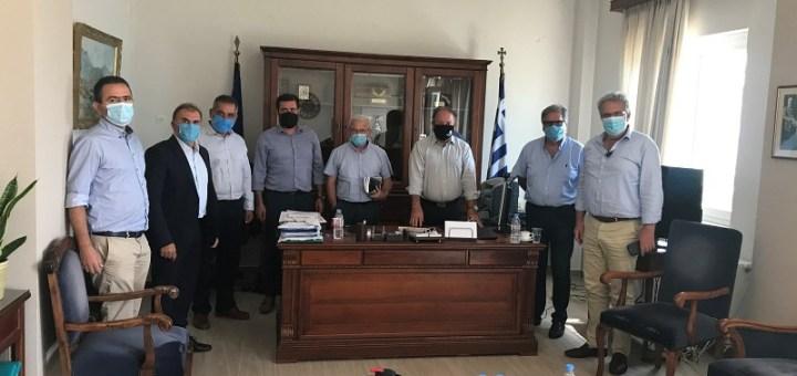 σύσκεψη περί βόρειου οδικού άξονα Κρήτης (Β.Ο.Α.Κ.)
