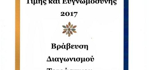 Βραβεία Τιμής και Ευγνωμοσύνης 2017