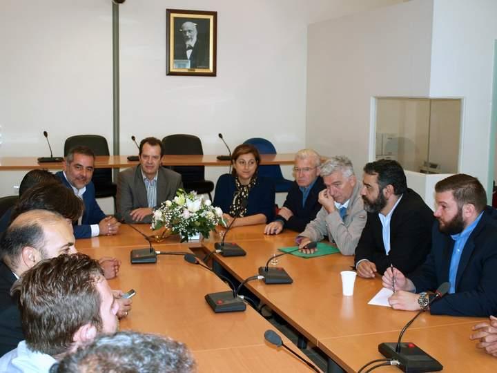 Συζήτηση της ΝΕ ΣΥΡΙΖΑ Λασιθίου με τον Γ. Γ. Υποδομών κ. Γ. Δέδε
