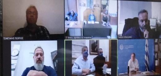 Τηλεδιάσκεψη με Υπ. Αγροτικής Ανάπτυξης και Τροφίμων κ. Σπήλιο Λιβανό