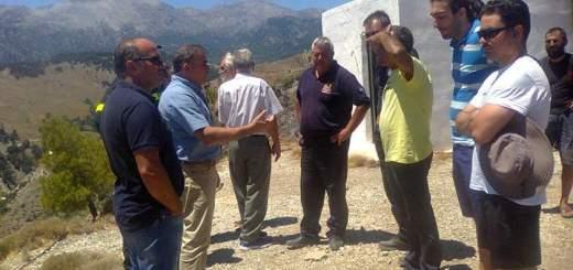 ΚΟΒ Ιεράπετρας επίσκεψη στις πυρόπληκτες περιοχές