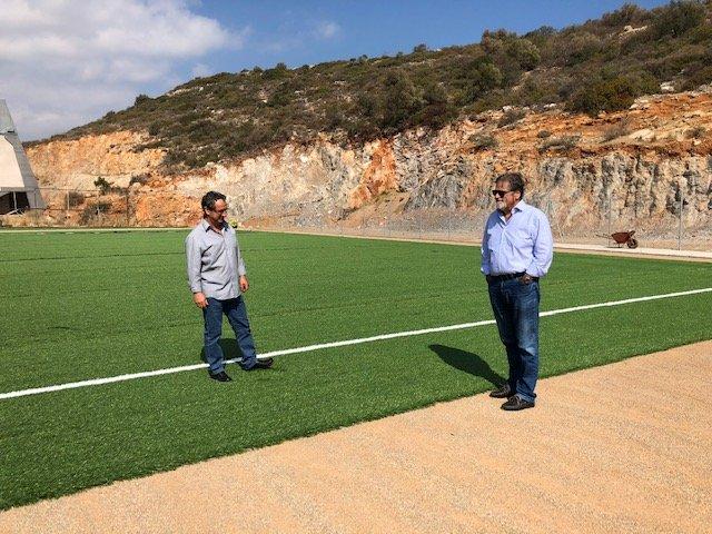 σε τροχιά υλοποίησης η διαμόρφωση αθλητικών υποδομών