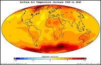 Χάρτης της NASA για τη πγκόσμια θέρμανση