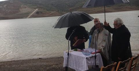 Αγιασμός των υδάτων στο φράγμα Αποσελέμη