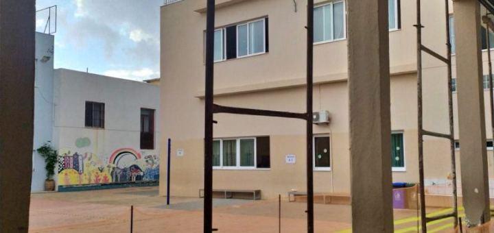 Στήριξη υποστυλωμάτων στο Α' δημοτικό σχολείο Αγίου Νικολάου