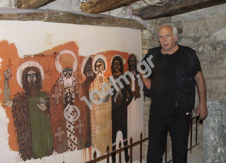 Νίκος Κούνδουρος, εκκλησάκι της λίμνης τελευταίες πινελιές