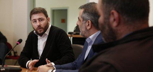 Ο Ευρωβουλευτής Νίκος Ανδρουλάκης στο οροπέδιο Λασιθίου